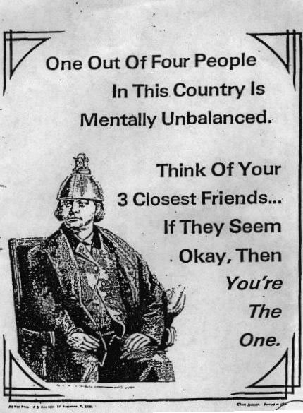 mentally unbalanced